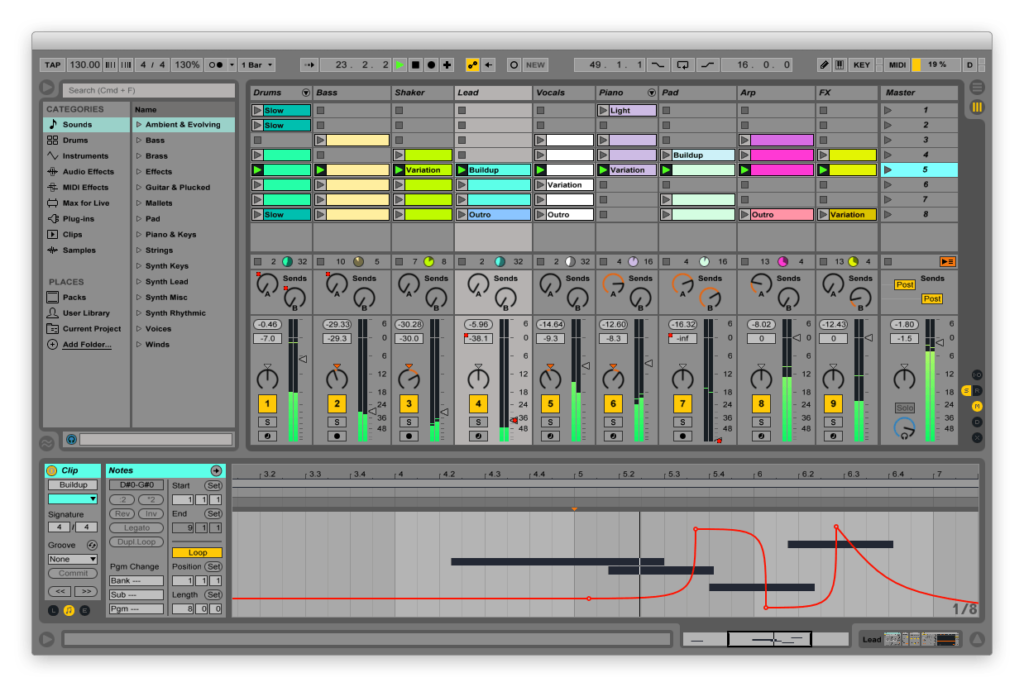 Ableton Live is the best daw for electronic music production